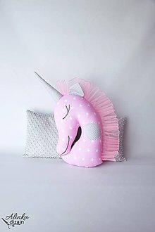 Textil - Jednorožec ružovo-sivý - 9582042_