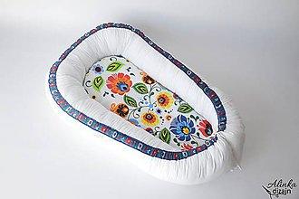 Textil - Hniezdo pre bábätko folk - 9583117_