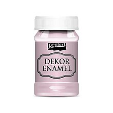 Farby-laky - Dekor enamel, 100 ml, dekoračný smalt, (ružová) - 9583242_