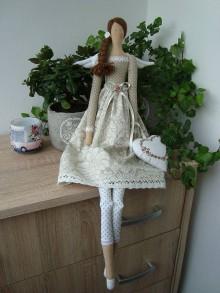 Bábiky - Béžová anjelka na želanie - 9584288_