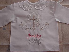 Detské oblečenie - košieľky do krstu (Biela) - 9582301_