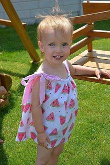 Detské oblečenie - Niky šaty/tunika melon - 9583729_