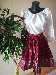 Sukne - Folková sukienka (Bordová) - 9584099_