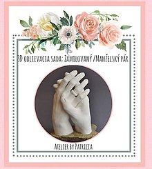 Darčeky pre svadobčanov - Odlievacia sada: Zamilovaný/Manželský pár - 9583305_
