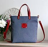Kabelky - Tina (modro-červená) - 9581838_