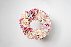 Dekorácie - Romantický veniec s ružami - 9582509_