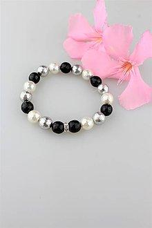 Náramky - perly swarovski náramok (10mm fecetované - 9581755_