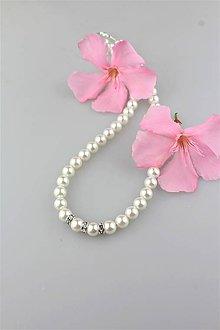 Náhrdelníky - perly swarovski náhrdelník