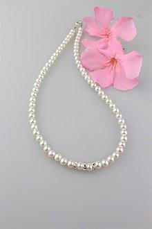 Náhrdelníky - svadobný náhrdelník perly swarovski - 9582169_