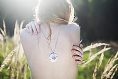 Náhrdelníky - Sluneční čas (náhrdelník s platinou) - 9584563_
