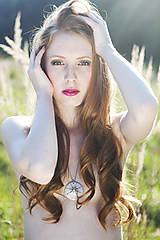 Náhrdelníky - Sluneční čas (náhrdelník s platinou) - 9584566_
