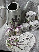 Svietidlá a sviečky - Romantický svícen s levandulí - 9584504_
