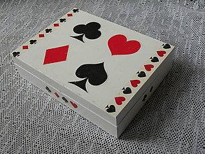Nezaradené - Krabička na karty bílá2 - 9584209_