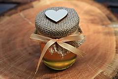 Darčeky pre svadobčanov - Zdobený (svadobný) medík 130 ml - 9582999_