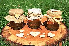 Darčeky pre svadobčanov - Zdobený (svadobný) medík 130 ml - 9583033_