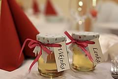 Darčeky pre svadobčanov - Zdobený (svadobný) medík 130 ml - 9583048_