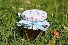 Darčeky pre svadobčanov - Zdobený (svadobný) medík 130 ml - 9583073_