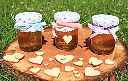 Darčeky pre svadobčanov - Zdobený (svadobný) medík 130 ml - 9583075_