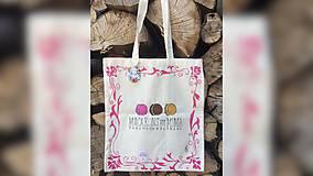 Iné tašky - ♥ Plátená, ručne maľovaná taška ♥ - 9581702_