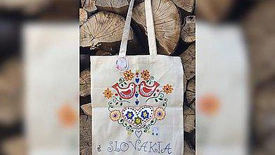 Iné tašky - ♥ Plátená, ručne maľovaná taška ♥ - 9581705_