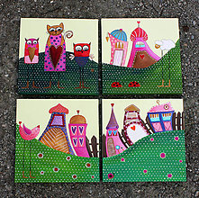 Obrázky - 4ks obrázky pre detičky - 9583692_