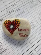 Drobnosti - Ďakujem pani učiteľka - Na kameni maľované - 9584635_