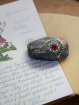 Drobnosti - Ďakujem pani učiteľka - Na kameni maľované - 9584757_