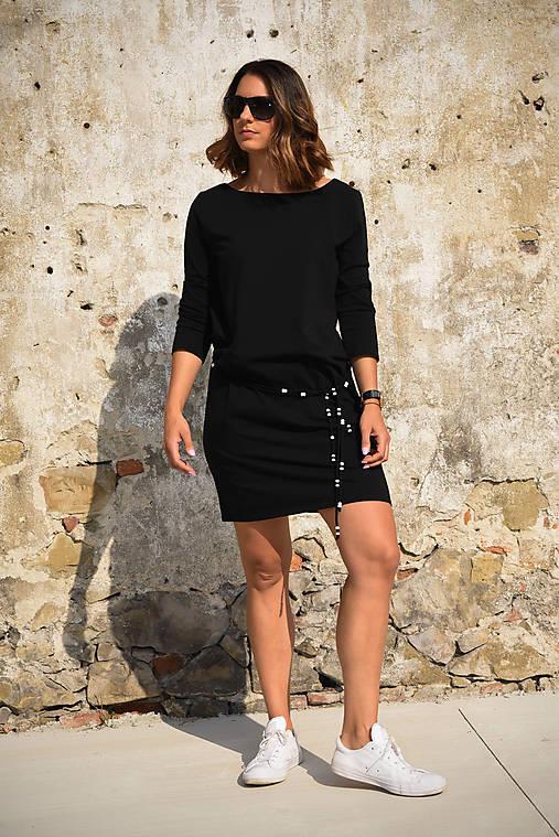 Šaty Mary - čierna (S)   miracles.style - SAShE.sk - Handmade Šaty 2d0a4068731