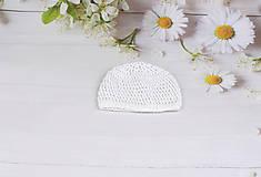 Detské čiapky - Biela letná čiapka EXTRA FINE (čistá) - 9583027_