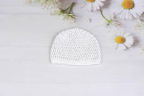 Biela letná čiapka EXTRA FINE (čistá)