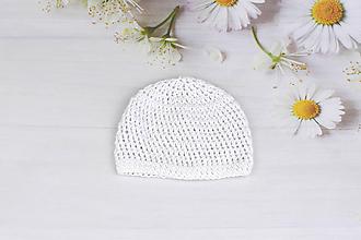 Detské čiapky - Biela letná čiapka EXTRA FINE - 9583026_