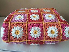 Úžitkový textil - hačkovaná deka KVIETOK - 9583440_