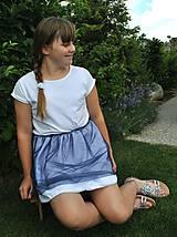 Bodkovaná suknička a gumička SET