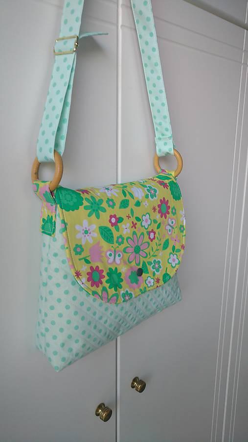 1293d50f2b Detská taška na plece s kvietkami   BYDANA - SAShE.sk - Handmade ...
