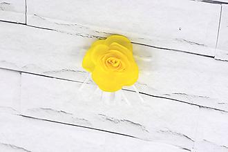 Pierka - Pierko pre ženícha žltá ruža - 9583189_