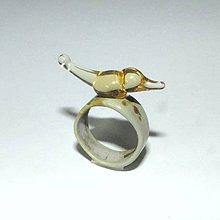 Prstene - Sklenený prsteň - 9583354_