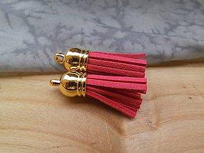 Polotovary - Strapčeky so zlatou koncovkou- pár - 9584642_