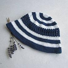 Čiapky - Klobúčik - námornícky, 100% bavlna - 9583047_