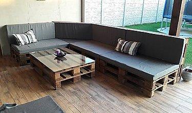 Úžitkový textil - Paletové sedenie u pani Zuzky - 9583057_