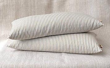 Úžitkový textil - FILKI šupkový vankúš 40 cm (bielo-béžový prúžok) - 9581662_