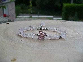 Náramky - náramok z Ruženínu s motýľom - 9583775_