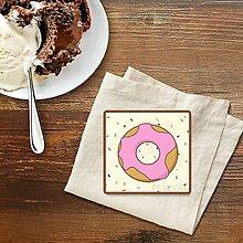 Dekorácie - Stracciatella potlač na koláčik (donut 3) - 9583481_
