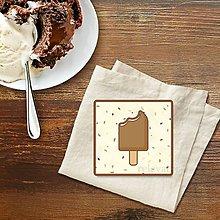 Dekorácie - Stracciatella potlač na koláčik nanuk nahryznutý - 9584739_