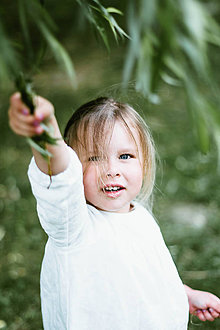 Detské oblečenie - Detská ľanová košieľka na gombičky (Červená) - 9586314_
