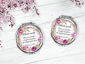 Zrkadielka - Set zrkadielok pre svadobné mamy - 9586049_