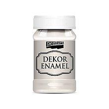 Farby-laky - Dekor enamel, 100 ml, dekoračný smalt, (krémovobiela) - 9585273_