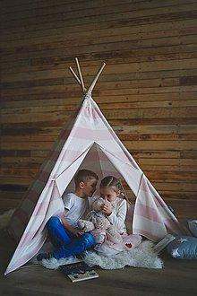 Detské doplnky - Týpí Cotton Candy - materiál CANVAS ! - 9585357_