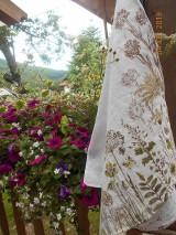 Úžitkový textil - Ľanová utierka, maľovaná, lúčne trávy... - 9584997_