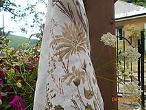 Úžitkový textil - Ľanová utierka, maľovaná, lúčne trávy... - 9584999_