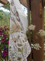 Úžitkový textil - Ľanová utierka, maľovaná, lúčne trávy... - 9585001_